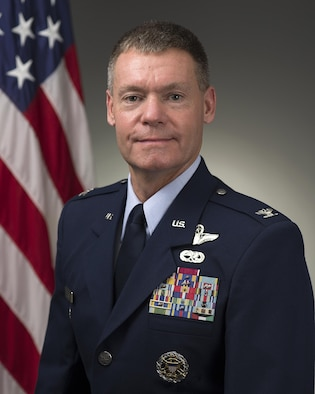 Col. Craig Peters, 940th Air Refueling Wing commander at Beale Air Force Base, California was photographed in the Pentagon on July 2, 2015, Washington, D.C. (U.S. Air Force photo/Jim Varhegyi)