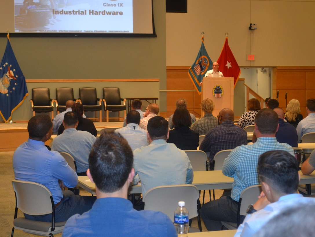 Jose Pereira, an IH supervisor and member of the IH Culture Improvement Team, addresses attendees during an IH Academy workshop June 1 in Philadelphia. IH Academy is a one-day workshop that provides employees with an in-depth overview of all the supply chain's disciplines.