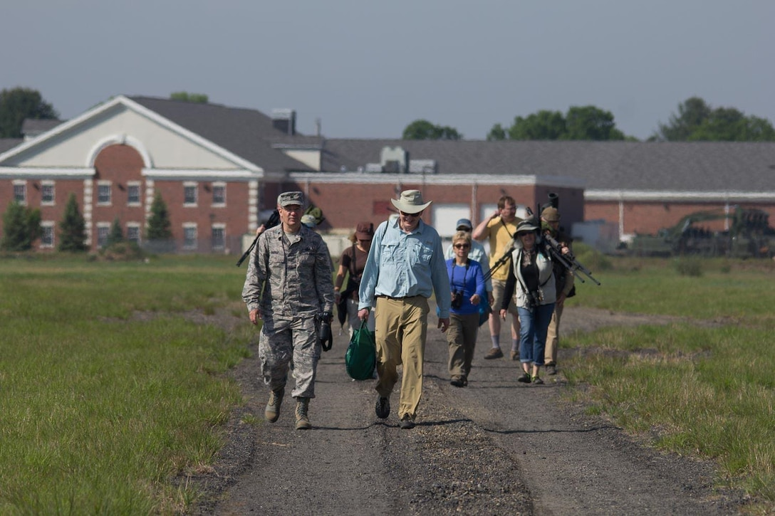 Thirty-six people from three area bird clubs came Saturday to watch something fly in the sky around Westover Air Reserve Base that wasn't an airplane.