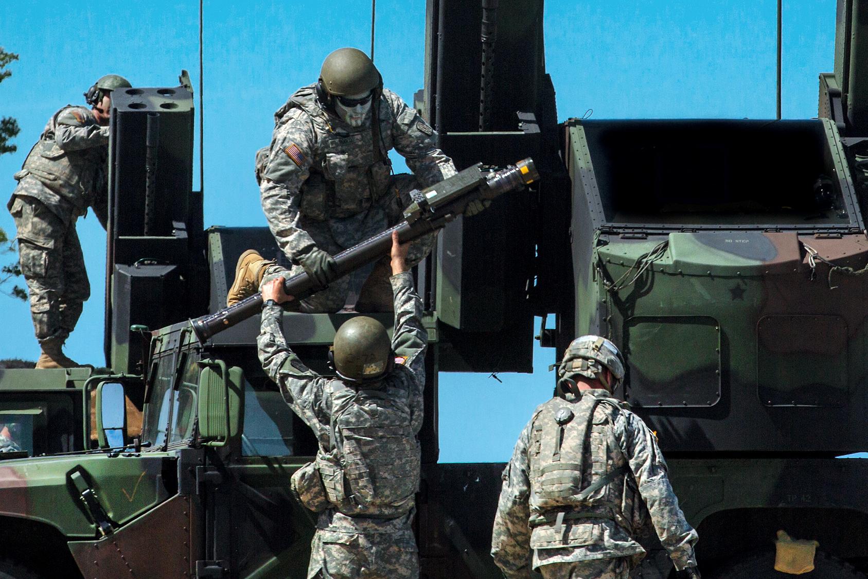 Loading Stinger Missiles