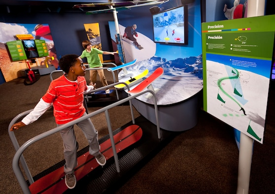 Designed for families and students, the interactive and immersive MathAlive! exhibit brings to life the real math behind what kids love most – video games, sports, fashion, music, robotics, and more. The exhibit will be available free-of-charge to National Museum of the U.S. Air Force visitors from July 23-Oct. 2, 2016. (Photo provided)