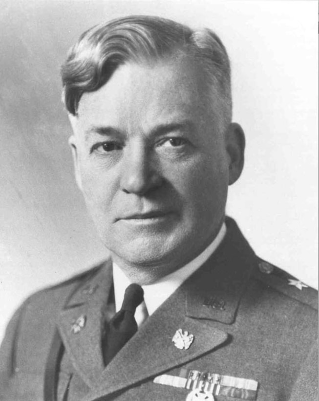 William Graham Everson, former Chief of the National Guard Bureau, was President of Linfield College in Portland and gave remarks at the dedication of Portland Army Air Base on Flag Day, 1941.  Of note, in World War I he commanded the 332nd Infantry Regiment.  This regiment served in Italy and was the only US Army unit to serve east of the Adriatic Sea, which included post-Armistice operations in the Balkans in Serbia, Montenegro, Austria and Dalmatia.  (National Guard Bureau)