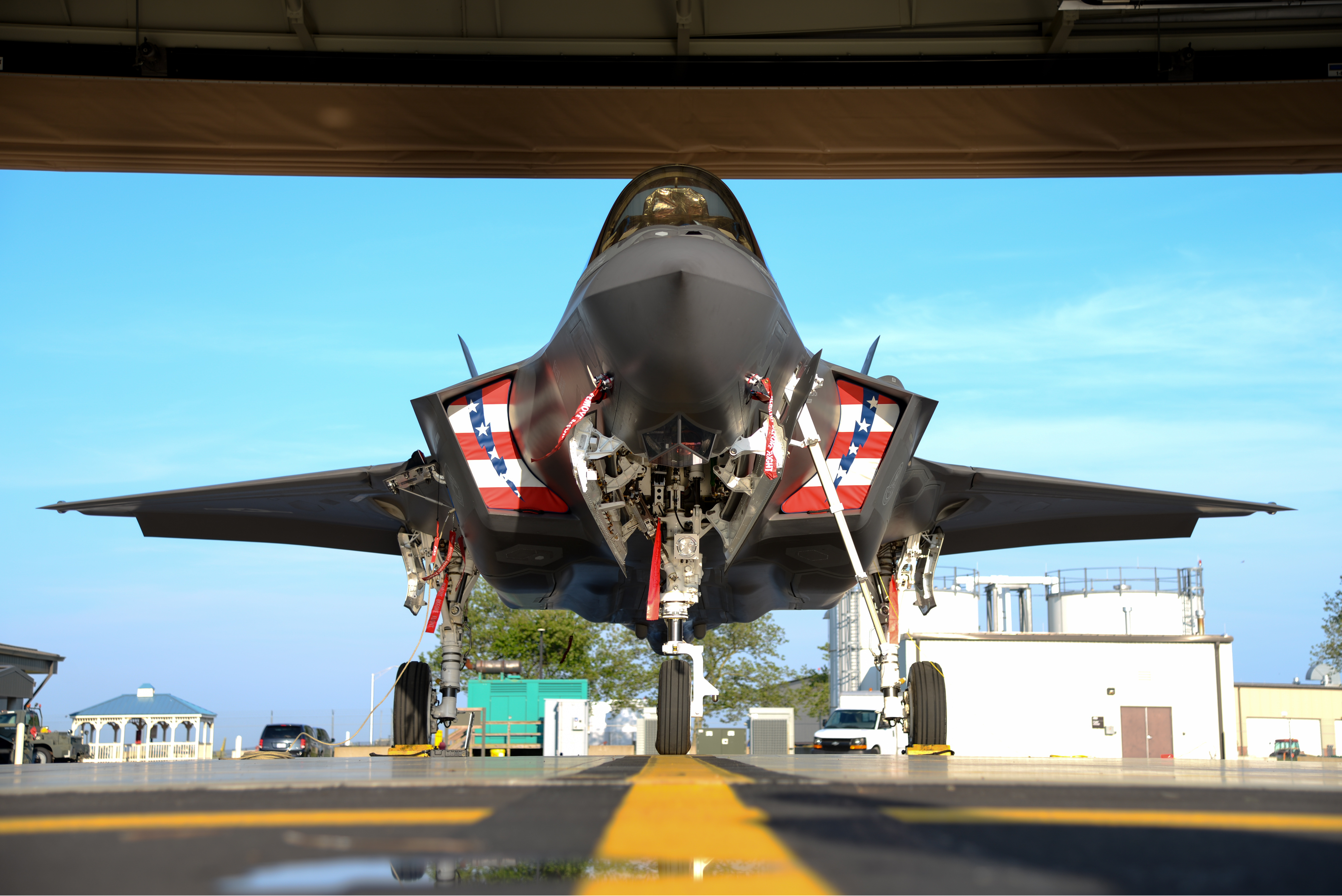 F 35 Lightining Ii Parked At Acy