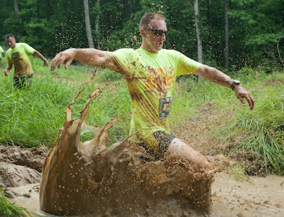 The Marine Corps Marathon (MCM) hosts the annual Run Amuck race at Marine Corps Base Quantico, Va., June 4, 2016. The Run Amuck is the MCM's messiest mud and obstacle course consisting of a four-mile trail with 21 challenges to include a mud trench, low crawl, and a mud pit. The event also included a scaled down two-mile version of the course, the Mini Run Amuck.