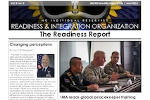 An image of page 1 of the June 2016 edition of the Readiness Report newsletter for IMAs.