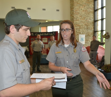 CARTHAGE, Tenn. (June, 6 2016) – U.S. Army Corps of Engineers Nashville District park rangers attended a water safety refresher class for new, summer hire and permanent rangers from Cordell Hull, Center Hill, Old Hickory, Cheatham, Lake Cumberland, Laurel, and J. Percy  lakes at the Cordell Hull resource manager's office.