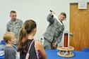 Staff Sgt. Richard Westra, a geophysical equipment maintenance technician assigned to Air Force Technical Applications Center demonstrates electricity using a Tesla Coil during the 45th Space Wing's All SySTEMs Go event June 11, 2016, at the Youth Center/Shark Center at Patrick Air Force Base. The event was designed to teach children of all ages about science, technology, engineering and math. (U.S. Air Force Photo/Tech. Sgt. Erin Smith/Released)