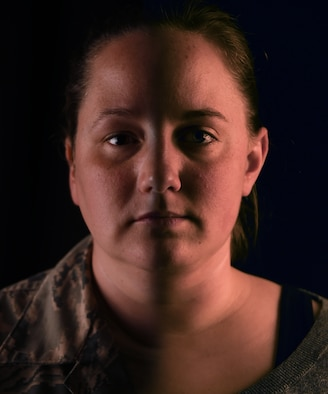 Staff Sergeant Jamie Engle (left) and her spouse Jamie Engle (right) shared a covert relationship until the repeal of Don't Ask, Don't Tell. (U.S. Air Force Photo Illustration by Senior Airman Joshua R. M. Dewberry)