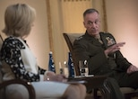 Marine Corps Gen. Joe Dunford, chairman of the Joint Chiefs of Staff, discusses defense challenges with NBC correspondent Andrea Mitchell at the Council on Foreign Relations in New York City, June 17, 2016. DoD photo by Navy Petty Officer 2nd Class Dominique A. Pineiro
