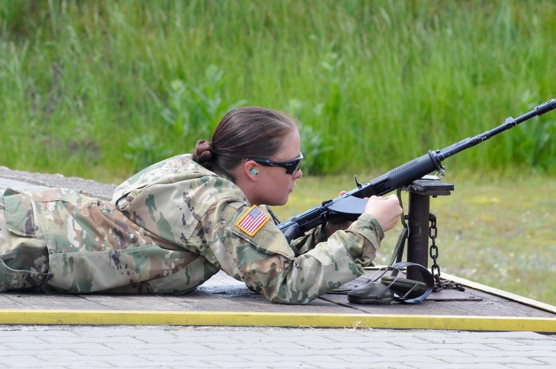 U.S. Army Reserve Sgt. Ashley Redd, an Information Technology Specialist, with 