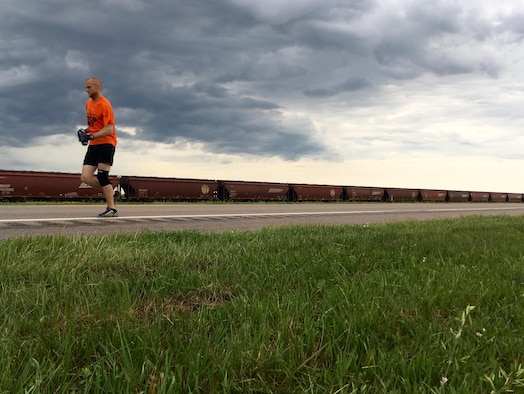 Staff Sgt. Sammy Bridges, NCO in charge of operations support with the 55th Security Forces Squadron at Offutt Air Force Base, Neb., was one of 17 runners selected out of hundreds of ultra-runner applicants to complete the MS Run the US Relay June 8 through June 13, 2016, raising funds for a cure for multiple sclerosis. Bridges dedicated the run to his mother-in-law, who suffers from MS.