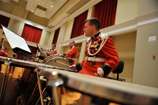Marine Band in rehearsal at the John Philip Sousa Band Hall in Washington, D.C.