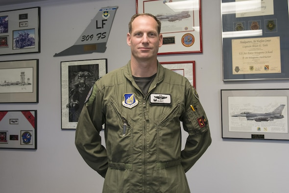 U.S. Air Force Col. Brian Toth, the 354th Operations Group commander, pauses for a brief photo in his office, June 17, 2016, at Eielson Air Force Base, Alaska. During two prior assignments at Eielson, Toth served as a weapons officer with the 18th Fighter Squadron, and later as the 353rd Combat Training Squadron commander. (U.S. Air Force photo by Staff Sgt. Ashley Nicole Taylor/Released)