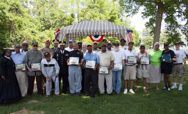 As part of the commemoration of the 50th anniversary of the Vietnam War, Dix recognized 23 Vietnam veterans with commemoration pins and certificates.