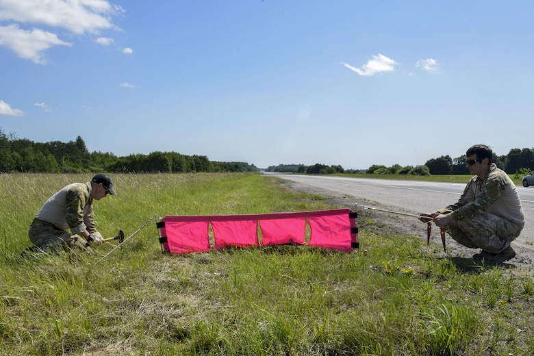 Combat controllers prepare a highway for aircraft to land on June 20, 2016, in Tallinn, Estonia. U.S. forces are in Europe participating in Saber Strike 16; a long-standing, U.S. Joint Chiefs of Staff-directed, U.S. Army Europe-led cooperative-training exercise, which has been conducted annually since 2010. This year's exercise will focus on promoting interoperability with allies and regional partners. The United States has enduring interests in supporting peace and prosperity in Europe and bolstering the strength and vitality of NATO, which is critical to global security. (U.S. Air Force photo/Senior Airman Nicole Keim)