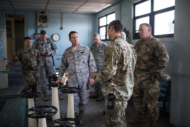 Air Force Lt. Gen. Joseph L. Lengyel, vice chief of the National Guard Bureau, receives a briefing at the Muscatatuck Urban Training Center in Indiana, April 23, 2016. Lengyel has been nominated to be the chief of the National Guard Bureau, and if confirmed would serve as a member of the Joint Chiefs of Staff. He testified at his Senate Armed Services Committee confirmation hearing June 21, 2016. National Guard photo by Army Staff Sgt. Jeremiah Runser