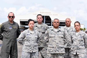 U.S. airmen of the 156th Airlift Wing picture here have been selected to form the Puerto Rico Air National Guard Airman Advocacy Team in Muñiz Air National Guard Base, Carolina, Puerto Rico, May 2016.  The ACAT was established in December 2015 to resolve pending medical, administrative and personnel issues for PRANG airmen and their families as a means to improve their military readiness and personal well-being. (U.S. Air National Guard photo by 1st. Lt. Claudia Villasenor)