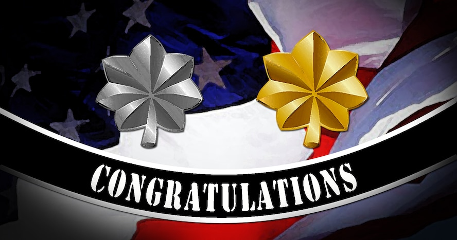 (Congratulations to the following seven 52nd Fighter Wing officers selected for promotion to the rank of major and lieutenant colonel June 21, 2016.