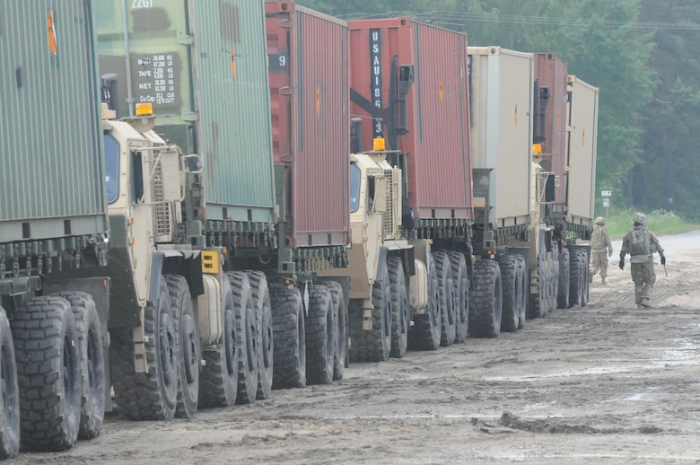 Sustainment and logistics Soldiers in the 364th ESC's 592nd Ordnance Company and the 483rd Quartermaster Company were responsible for managing supply yards and ammunition supply points for the more than 12,000 U.S. service members participating in Anakonda 16 June 7 through June 17 in Poland.