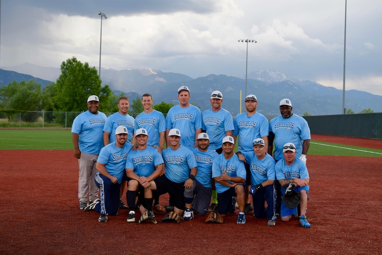 Sheppard Senators, Sheppard Air Force Base's men's varsity softball team. Back Row (Left to Right): Ronald Brown, 363rd Training Squadron; Tech. Sgt. Ryan McCune, 361st Training Squadron; Senior Airman Ryan Ashley, 82nd Aerospace Medical Squadron; Staff Sgt. Patrick Gordon, 361st Training Squadron; Master Sgt. Steven Clinton, 982nd Maintenance Squadron; Tech Sgt. Kyle Beisner, 364th Training Squadron; Staff Sgt. Carlos House, U.S. Army retired. Front Row (Left to Right): Staff Sgt. Matthew Brown, 361st Training Squadron; Senior Airman Desmond Greer, 82nd Medical Operations Squadron; Staff Sgt. Andrew Purshock, 362nd Training Squadron; Miguel Aguilar, 82nd Force Support Squadron; Master Sgt. Junicio Cacal, 82nd Aerospace Medical Squadron; Master Sgt. Michael Smith, 82nd Medical Operations Squadron; Tech. Sgt. Vincent Lopez, 365th Training Squadron.