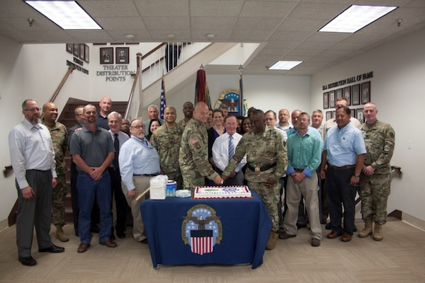 DLA Distribution Headquarters senior leaders, military members and civilian staff celebrated the U.S. Army's 241st Birthday on June 14, 2016.