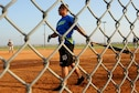 David Anderson, from Air Force Global Strike Command softball team, warms up on-deck in the bottom of the fourth inning at Barksdale Air Force Base, La., June 15, 2016. AFGSC went on to score nine runs that inning. (Air Force photo/Airman First Class Stuart Bright)