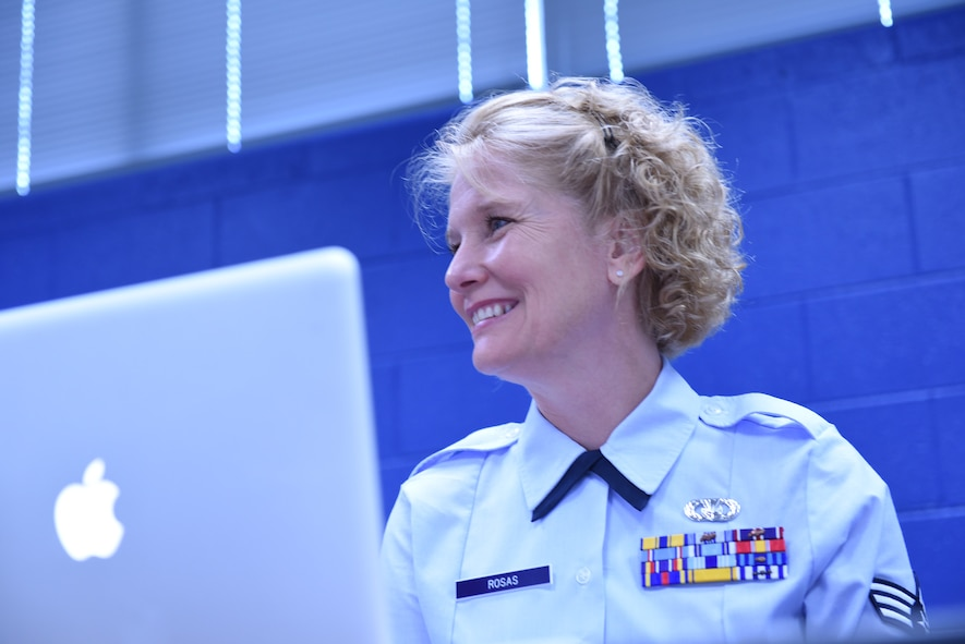 U.S. Air Force Airmen attend class during Airman leadership school June 21, 2016, at the Chief Master Sergeant Paul H. Lankford Enlisted Professional Military Education Center at McGhee Tyson Air National Guard Base in Louisville, Tenn. (U.S. Air National Guard photo by Master Sgt. Mike R. Smith/Released)