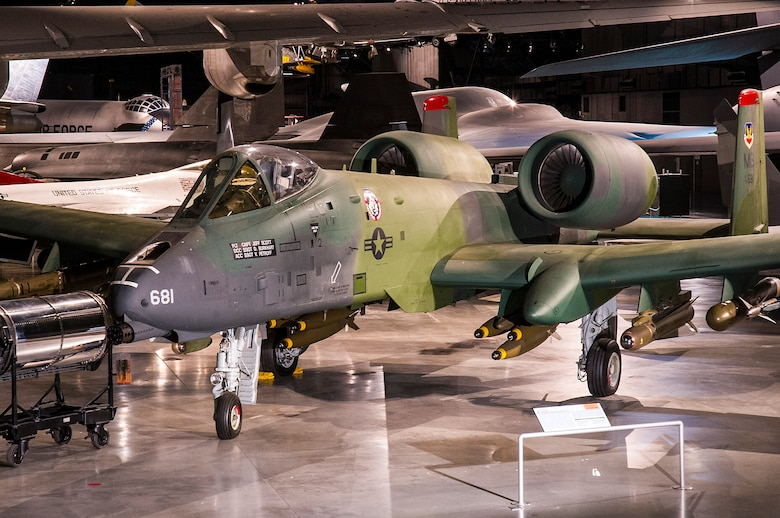 DAYTON, Ohio -- Fairchild Republic A-10A Thunderbolt II in the Cold War Gallery at the National Museum of the United States Air Force. (U.S. Air Force photo by Ken LaRock)