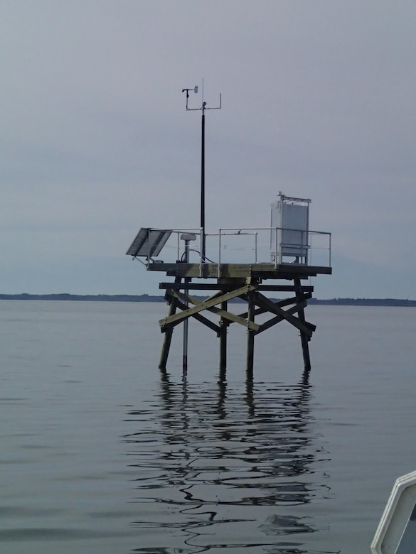 The CS05 monitoring platform is designed to withstand the harsh North Carolina coastal environment.