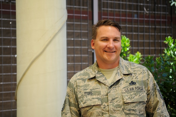 Master Sgt. Jeffery Myers, 9th Aircraft Maintenance Squadron U-2 Dragon Lady production superintendent, poses for a photo on Beale Air Force Base, June 21, 2016 (U.S. Air Force photo by Senior Airman Michael Hunsaker)