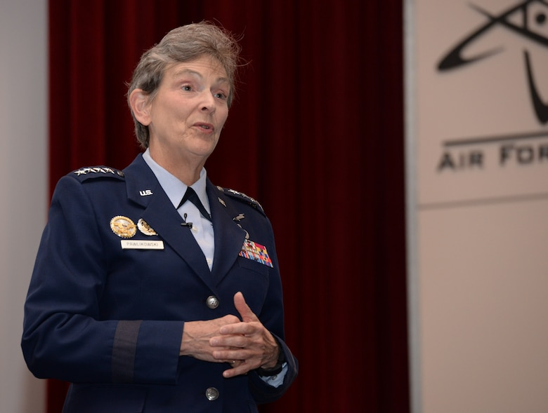 General Ellen Pawlikowski, Air Force Materiel commander was the keynote speaker at the 2016 Acquisition Insight Days held on the campus of the Air Force Institute of Technology's Kenney Hall and through live video streaming June 14-15.