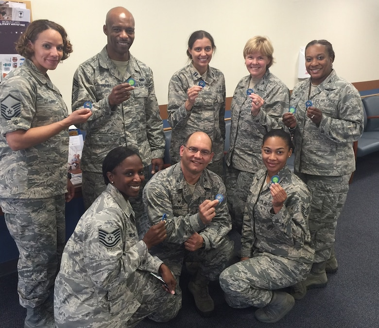 Members of the 79th Medical Wing who have completed Green DOT training were given a coin. Want to make a difference? New training is coming up in August!