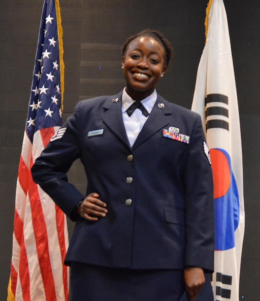 Staff Sgt. Cierra Rogers poses for a photo April 28, 2016 at Osan Air Base, Republic of Korea.  (Courtesy photo)