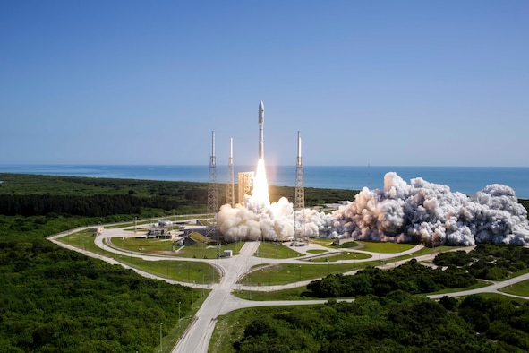 The Air Force's 45th Space Wing supported United Launch Alliance's successful launch of the MUOS-5 spacecraft aboard an Atlas V rocket from Space Launch Complex 41 at Cape Canaveral Air Force Station, Fla., June 24, 2016, at 10:30 a.m. ET. MUOS is the U.S. military's answer to secure and reliable tactical communications. (Courtesy photo by ULA)