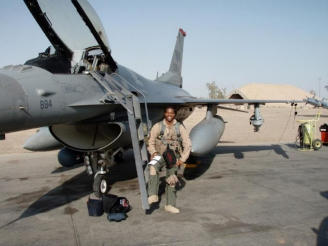 """Maj. Kenyatta Ruffin, will be recognized live at the BET awards, June 26, during the """"Shine a Light"""" segment. He is being recognized for his impact as the founder of Legacy Flight Academy, a non-profit organization that assists minority youths in pursuing careers in aviation and raising awareness about benefits and opportunities in the military. (Courtesy photo)"""