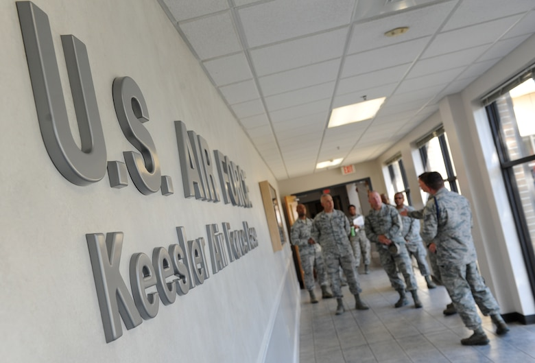 Col. C. Mike Smith, 81st Training Wing vice commander, receives a tour of the Levitow Training Support Facility during an 81st Training Group immersion tour June 22, 2016 on Keesler Air Force Base, Miss. The purpose of the tour was to become familiar with the group's mission, operations and personnel. (U.S. Air Force photo by Kemberly Groue/Released)