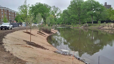 Note the beginning of plantings on the left bank, looking downstream.