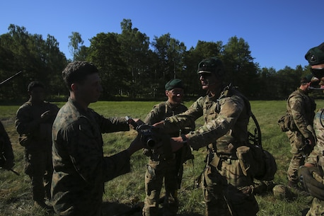 U.S. Marines joined forces with NATO allies and partner nations during Baltic Operations 16, building international relationships and strengthening security in the Baltic Sea region. (U.S. Marine Corps photo by Lance Cpl. Ashley Lawson/Released)