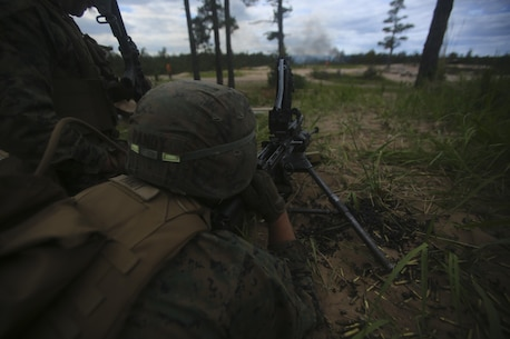 U.S. Marines came together to join a multinational force during BALTOPS 16, reassuring NATO allies and partner nations the U.S.'s commitment to security and stability in the Baltic Sea.( U.S. Marine Corps photo by Cpl. Lucas Hopkins/Released)