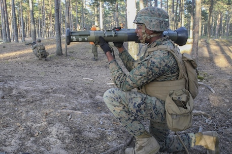 U.S. Marines came together to join a multinational force during BALTOPS 16, reassuring NATO allies and partner nations the U.S.'s commitment to security and stability in the Baltic Sea. (U.S. Marine Corps photo by Cpl. Lucas Hopkins/Released)