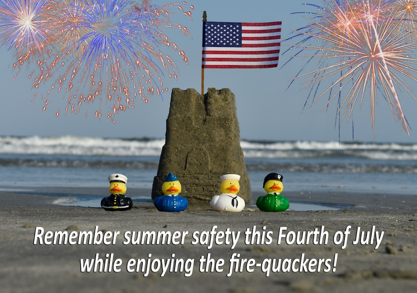 Joint Base Charleston reminds the community to stay safe this holiday weekend as the Fourth of July is considered the most dangerous holiday of the year for Americans, according to the National Safety Council. (U.S. Air Force Photo Illustration/Airman Megan Munoz)