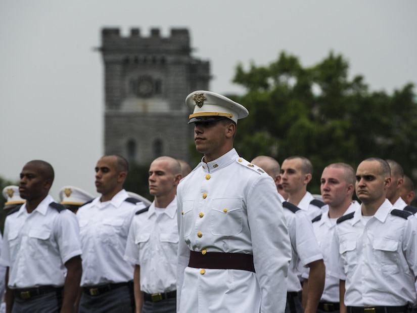 Future Cadets at the U.S. Military Academy at West Point, N.Y., gather at the plain for the oath ceremony in front of family and friends during R-day, June 27. (U.S. Army photo by Sgt. 1st Class Brian Hamilton/ released)