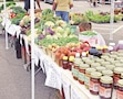 Visitors can find homemade jam, produce and more at the Downtown Farmers' Market in Manhattan, Kansas.