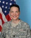 Outgoing DLA Distribution Europe commander Army Lt. Col. Krista M. Hoffman
