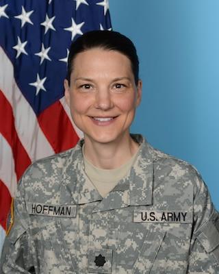 Outgoing DLA Distribution Europe commander Army Lt. Col. Krista M. Hoffman