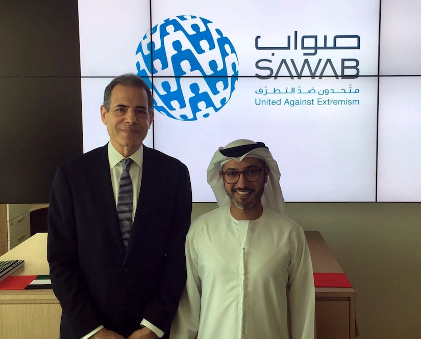 Undersecretary of State for Public Diplomacy and Public Affairs Rick Stengel visits the Sawab Center in Abu Dhabi, United Arab Emirates, the first-ever multinational online messaging and engagement program in support of the global coalition against ISIL, April 27, 2016. State Department photo