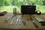 U.S. Army surgeons were issued surgical kits like this during the Civil War. Photo by Marine Corps Cpl. Cedric Haller