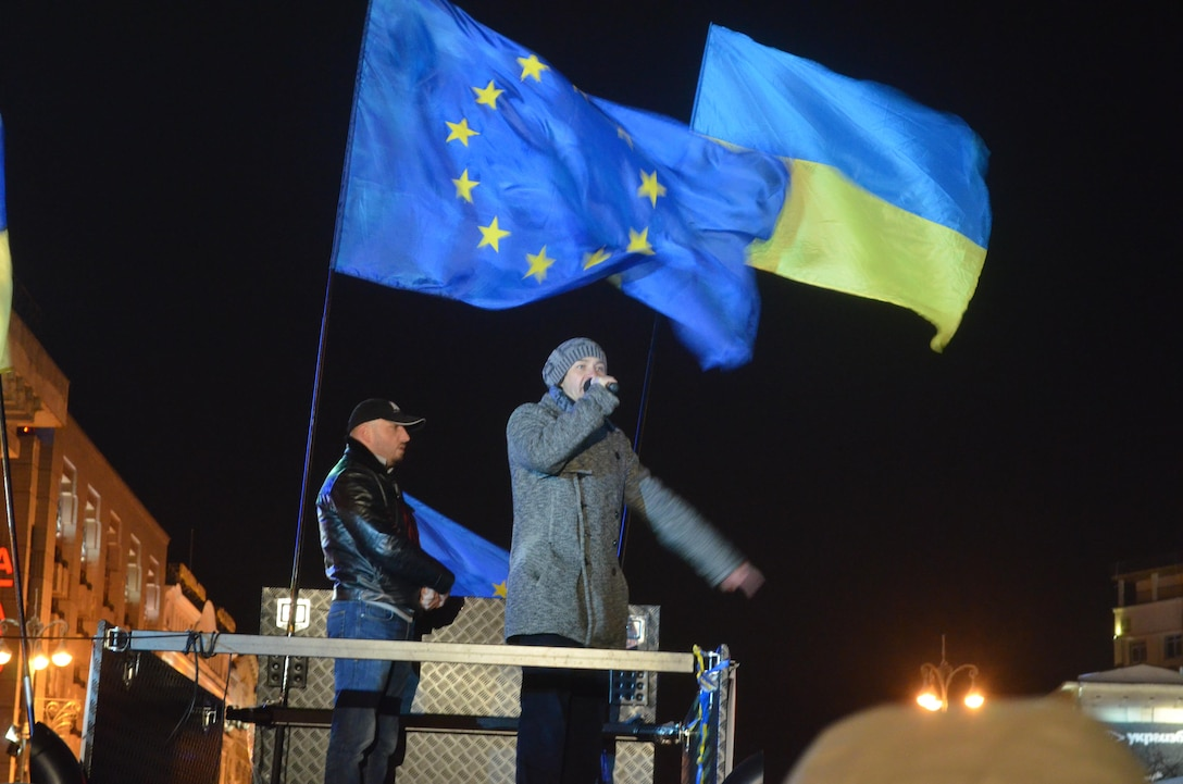 A pro-European protest held in Kiev in 2013 embodied the willing nature of the Ukrainian democratic movement, however as of yet Ukraine has been unable to translate this into a successful and stable regime.