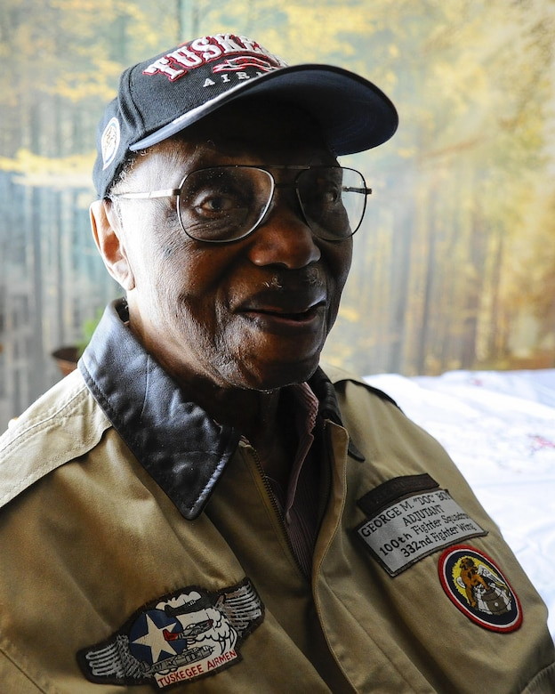 Retired Maj. George Boyd at his home in Wichita, Kan., Feb. 4, 2016. Boyd is a 28-year combat veteran who served in World War II, the Korean War and the Vietnam War. (U.S. Air Force photo/Airman Jenna K. Caldwell)