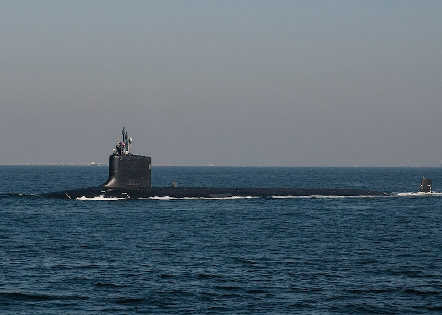 151105-N-ED185-033 TOKYO BAY (Nov. 5, 2015) The Virginia-class fast-attack submarine USS North Carolina (SSN 777) transits Tokyo Bay before arriving at Fleet Activities Yokosuka. North Carolina is visiting Yokosuka as a part of a scheduled port visit. (U.S. Navy photo by Mass Communication Specialist 2nd Class Brian G. Reynolds/Released)